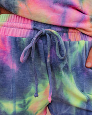 Harmony Pocketed Tie Dye Knit Shorts - FINAL SALE