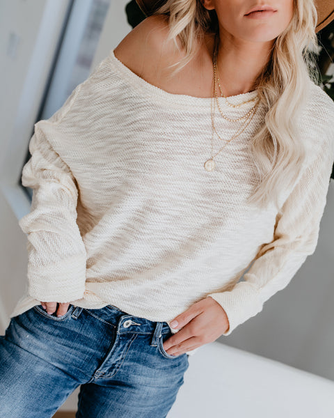 Have It All Knit Top - Cream