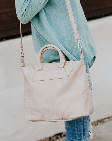 Hayden Vegan Leather Handbag - Cream