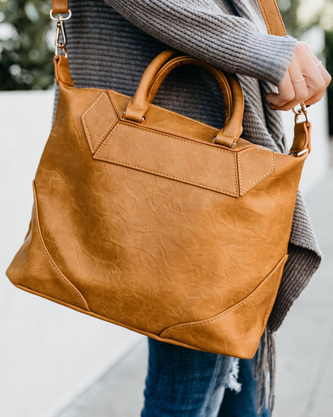 Hayden Vegan Leather Handbag - Mustard