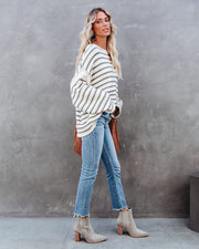 Haystack Striped Knit Sweater