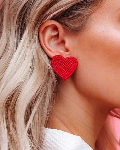 Heart And Soul Beaded Statement Earring