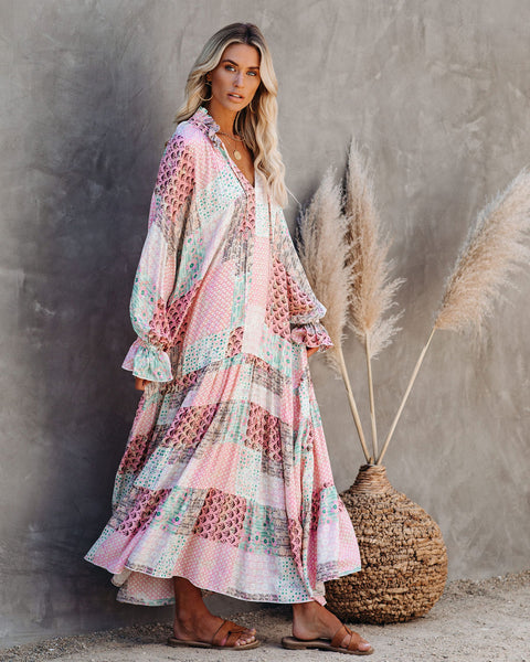 Heaton Patchwork Boho Maxi Dress