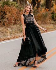 Heavenly High Low Statement Dress - Black - FINAL SALE