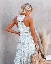 Heaven On Earth Cotton Crochet Tiered Maxi Dress view 2