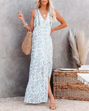 Heaven On Earth Cotton Crochet Tiered Maxi Dress view 3