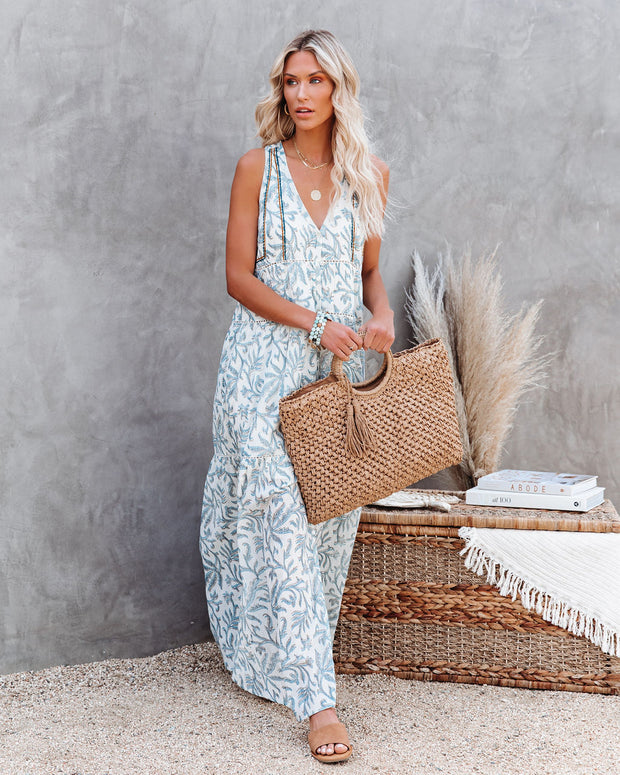 Heaven On Earth Cotton Crochet Tiered Maxi Dress view 7