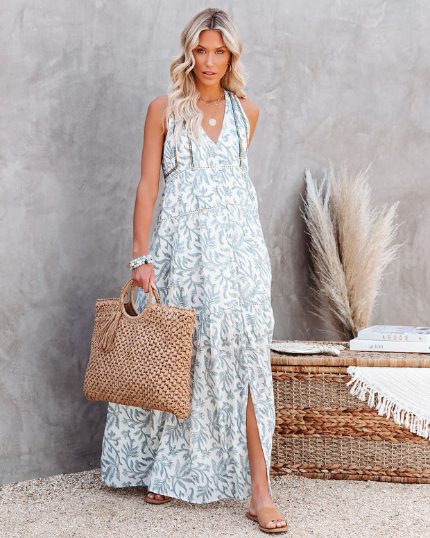 Heaven On Earth Cotton Crochet Tiered Maxi Dress view 5