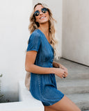 Hello Sunshine Denim Romper