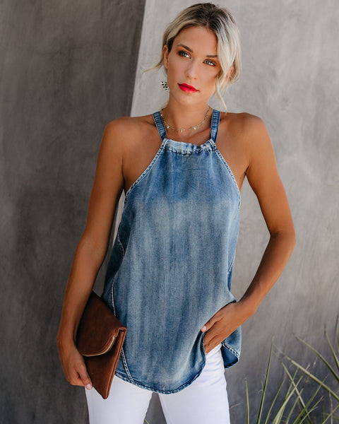 Heritage Denim Adjustable Tank