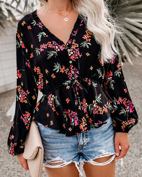 Hey There Delilah Adjustable Floral Top