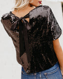 Hidden Treasure Sequin Tie Top