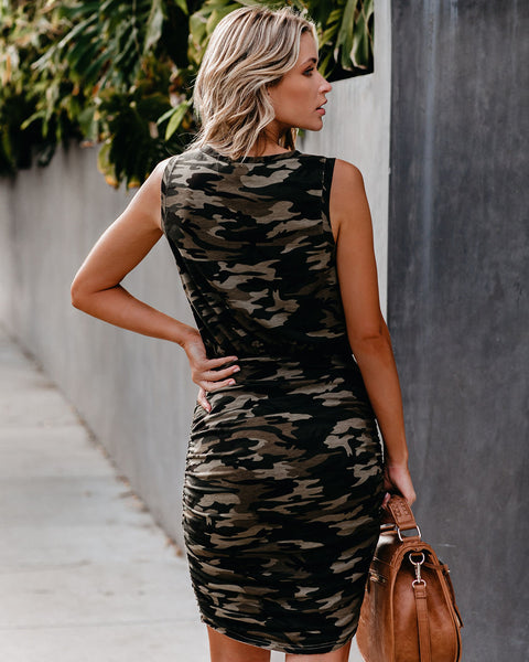 Hide And Seek Ruched Tank Dress
