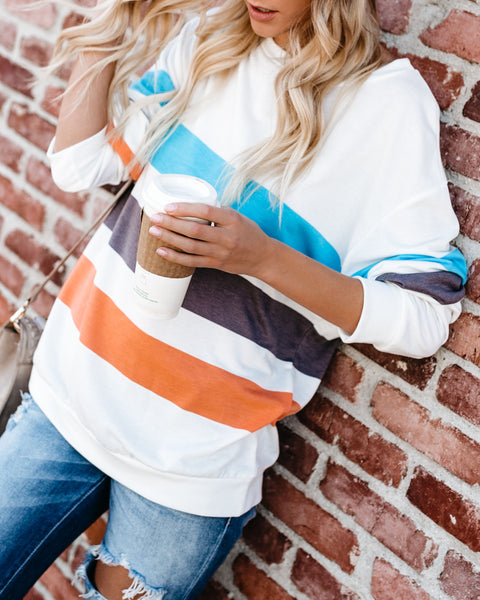 High Five Striped Knit Top - FINAL SALE