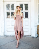 Montecito High Low Maxi Dress