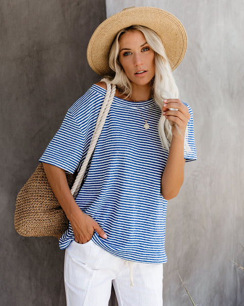 High On Summertime Striped Tee