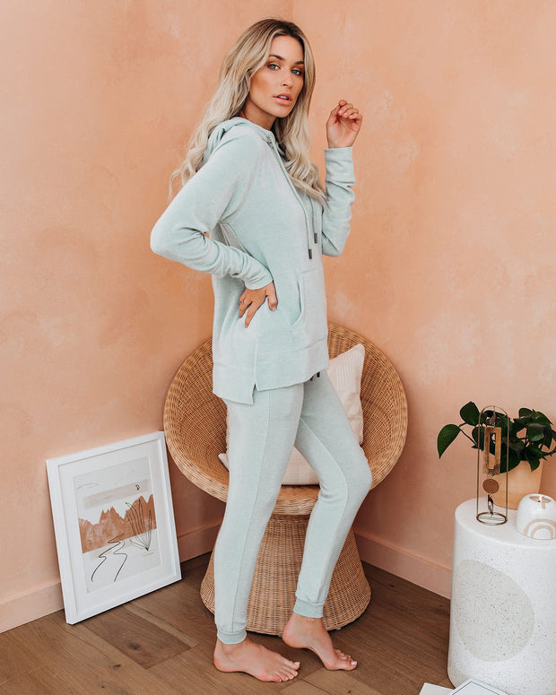 Hit Snooze Pocketed Knit Joggers - Washed Sage - FINAL SALE