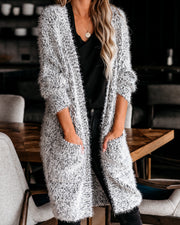 Hit The Slopes Pocketed Fuzzy Knit Cardigan