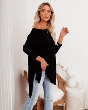 Holiday Weekend Cotton Long Sleeve Tunic - Black view 10