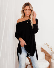Holiday Weekend Cotton Long Sleeve Tunic - Black view 1