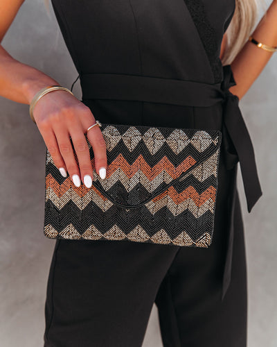 Hollywood Handmade Beaded Crossbody Clutch