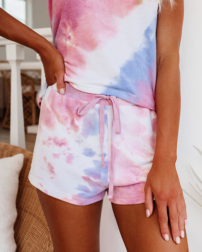 Homebound Tie Dye Knit Shorts - FINAL SALE