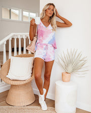 Homebound Tie Dye V-Neck Knit Tank - FINAL SALE