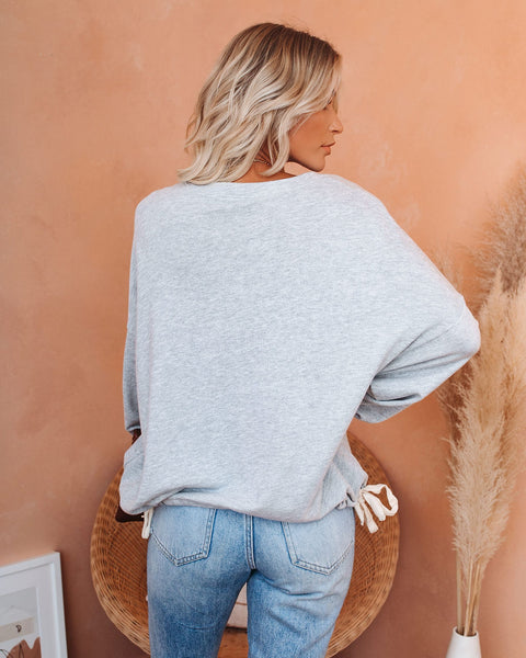 Homeward Cotton Blend Drawstring Pullover  - FINAL SALE