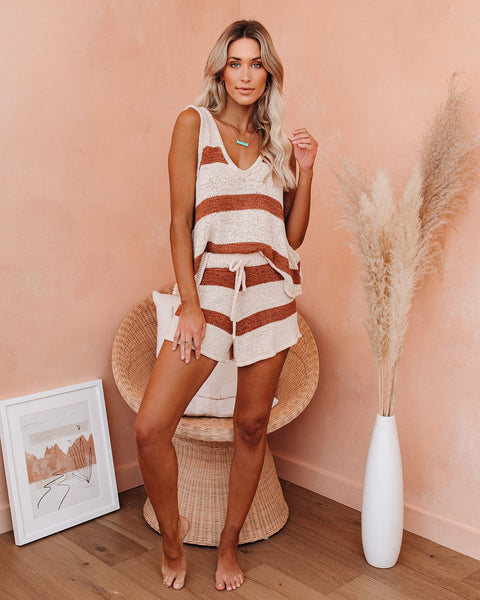 Honolulu Striped Knit Tank