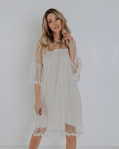 Hope Lace Dress - Cream - FINAL SALE