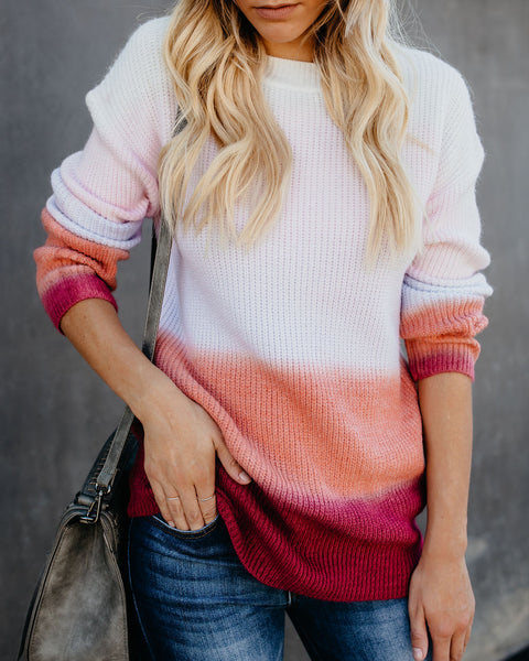 Horizons Ombre Knit Sweater