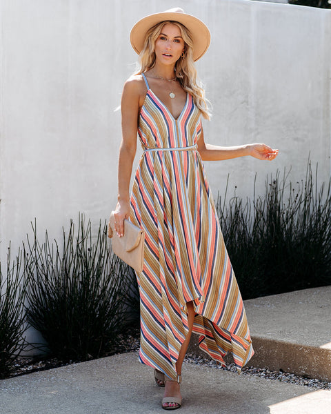 Hotel California Versatile Striped Dress