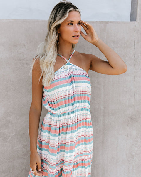Hot Springs Cotton Striped Maxi Dress - FINAL SALE