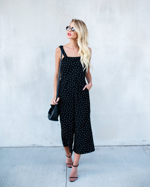 Hottie Dotty Pocketed Polka Dot Jumpsuit