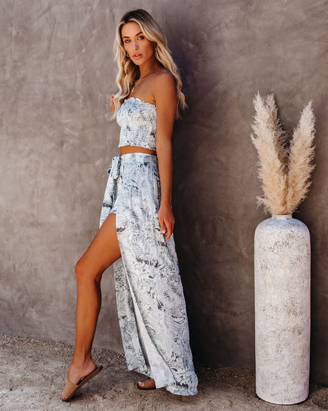 Hot Tropics Smocked Wide Leg Pants