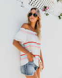 How Sweet It Is Off The Shoulder Top - Off White