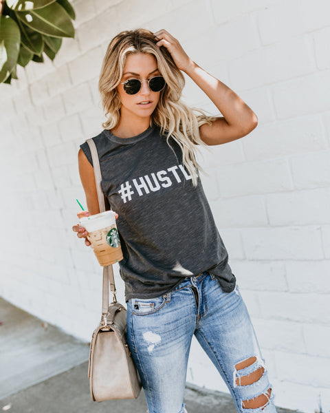 #Hustle Cotton Tank