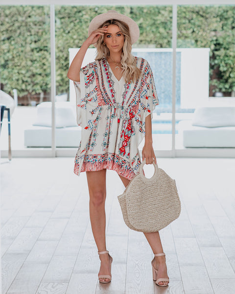 I Like It Printed Kaftan Dress