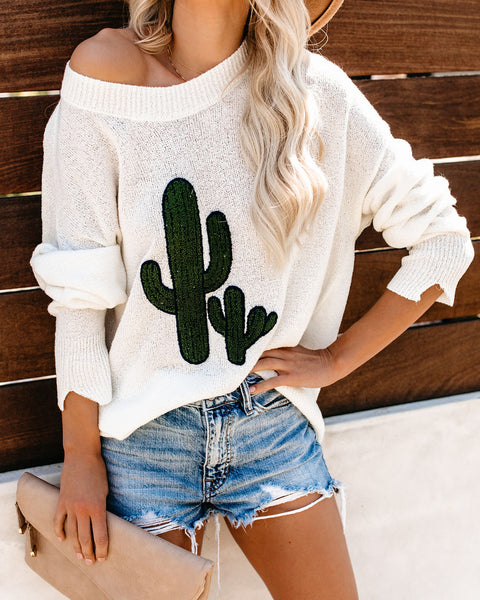 PREORDER - I'm Stuck On You Light Knit Sweater