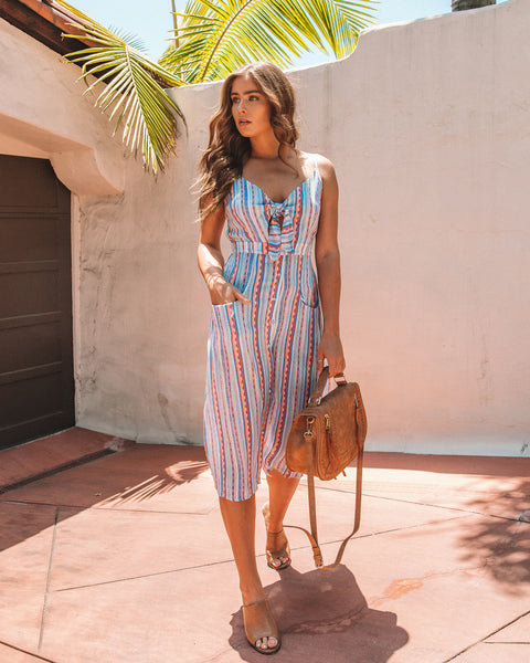 Incan Trail Pocketed Button Down Midi Dress - FINAL SALE