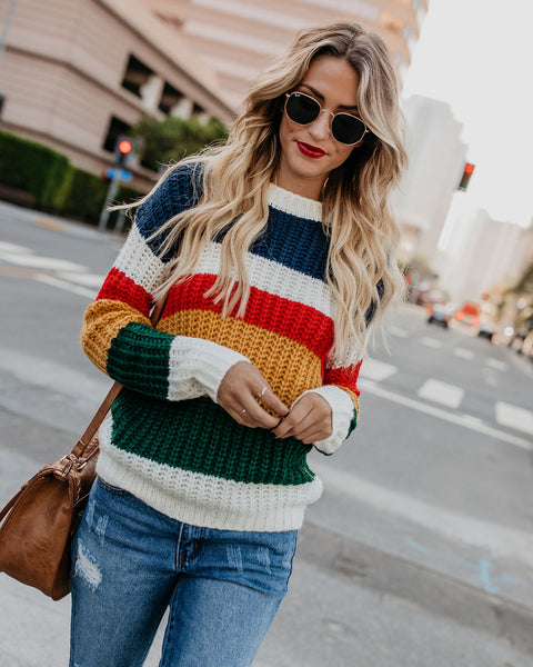 Indio Striped Knit Sweater