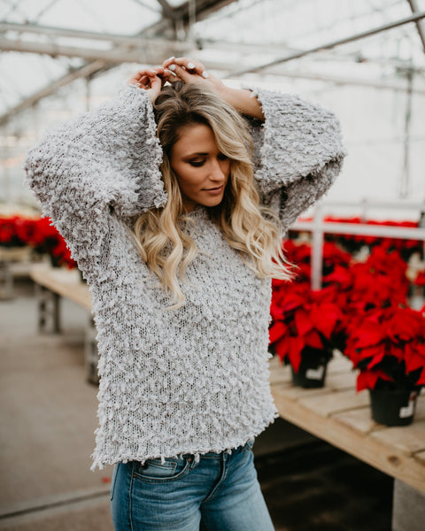 Fuzzy Feeling Sweater - Grey