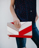 Lupe Messenger Clutch - Red