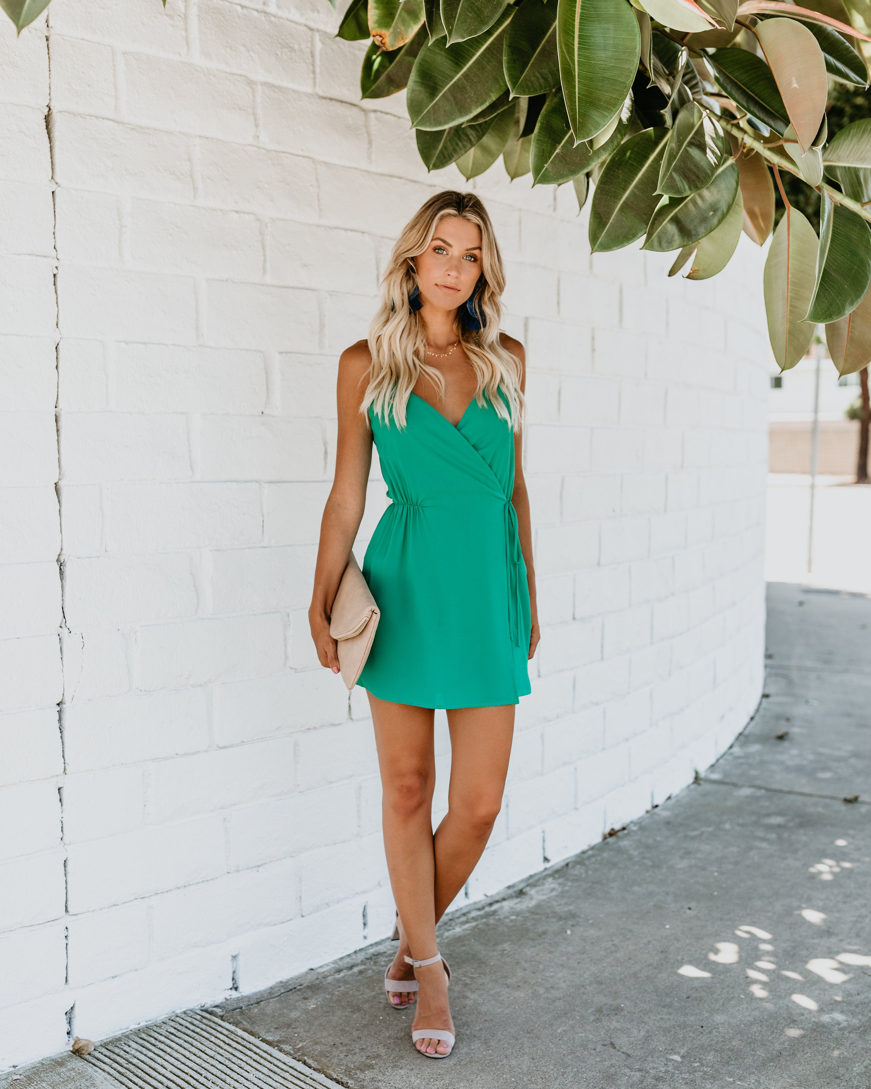 60884a6a110 Instant Gratification Pocketed Wrap Dress - Jade – VICI