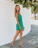 Instant Gratification Pocketed Wrap Dress - Jade