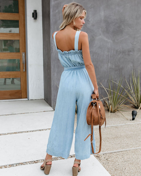 Interlaken Tencel Pocketed Adjustable Jumpsuit - FINAL SALE