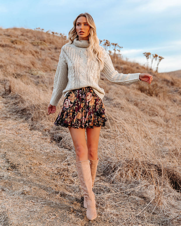 In That Very Moment Floral Ruffle Mini Skirt view 8