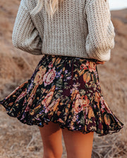 In That Very Moment Floral Ruffle Mini Skirt view 2