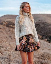 In That Very Moment Floral Ruffle Mini Skirt view 7