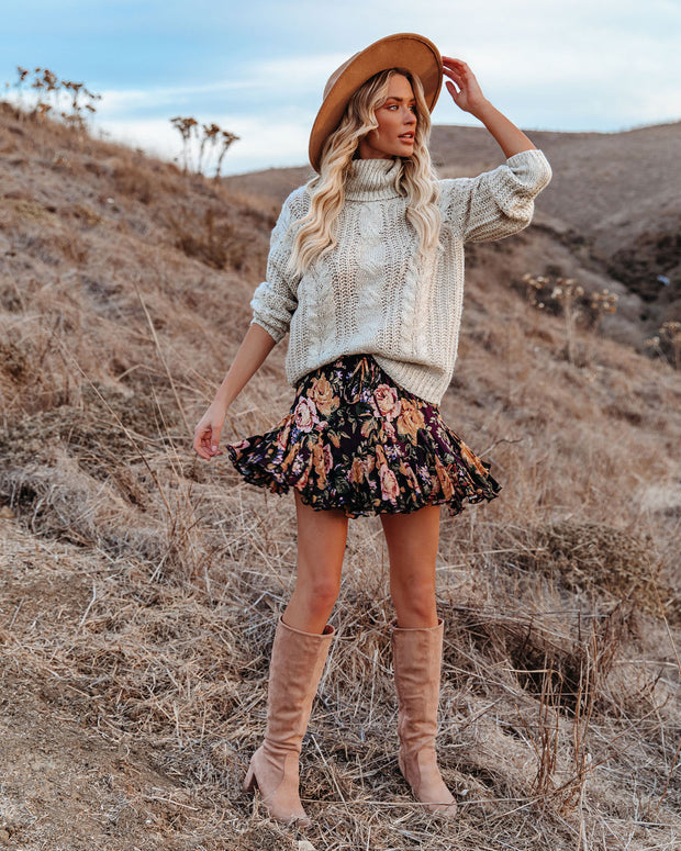 In That Very Moment Floral Ruffle Mini Skirt view 11